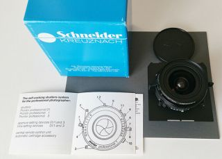 Schneider - Angulon Xl 58mm F/5.  6 Lens W Prontor Prof.  01s - Very Rare