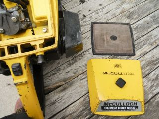 VINTAGE MCCULLOCH PRO 125C SP125 CHAINSAW NR NON - RUNNING 11
