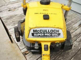 VINTAGE MCCULLOCH PRO 125C SP125 CHAINSAW NR NON - RUNNING 2