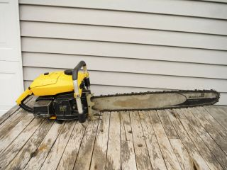 VINTAGE MCCULLOCH PRO 125C SP125 CHAINSAW NR NON - RUNNING 3