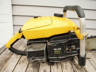 VINTAGE MCCULLOCH PRO 125C SP125 CHAINSAW NR NON - RUNNING 4