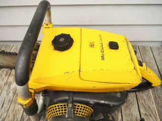 VINTAGE MCCULLOCH PRO 125C SP125 CHAINSAW NR NON - RUNNING 5