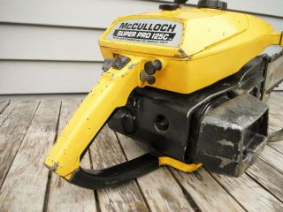 VINTAGE MCCULLOCH PRO 125C SP125 CHAINSAW NR NON - RUNNING 8
