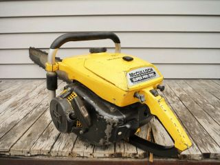 VINTAGE MCCULLOCH PRO 125C SP125 CHAINSAW NR NON - RUNNING 9