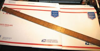 "Antique Stanley Rule & Level Co.  Rare Brass Bound 24 "" Boxwood Ruler Good Cond."