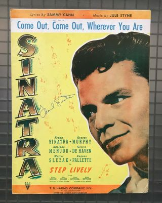 Frank Sinatra Signed Step Lively Sheet Music Book Autographed Jsa Loa Rare