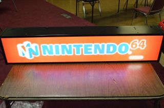 Vintage Authentic Retail Nintendo 64 Lighted Store Display Sign N64 Video Games