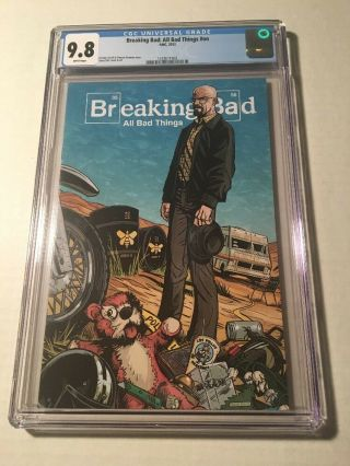 Breaking Bad Promotional Comic Book Cgc 9.  8 Ultra Rare 500 Made Heisenburg Saul