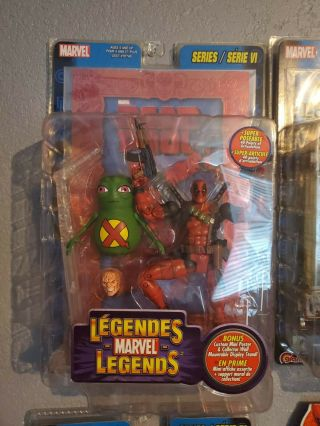 Marvel Legends Deadpool Red Foil Rare And Deadpool 4 Comic