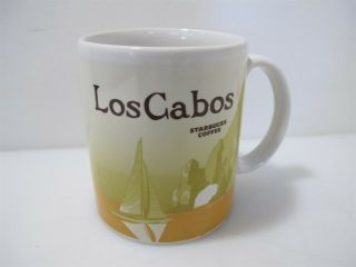 Rare Starbucks Coffee Los Cabos Mexico Yellow Sailboat Icon Global 16 Fl Oz Mug