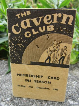 Beatles Ultra Rare 1961 Cavern Club Membership Booklet,  Extra
