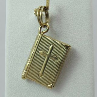 14k Gold 3d Bible Lord