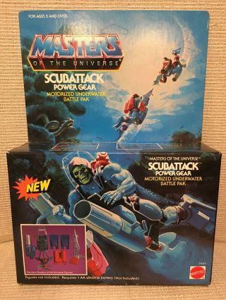 Rare Masters Of The Universe Scubattack Power Gear Skeletor He Man Motu Misb Toy