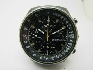 Vintage Heuer Black Pvd Chronograph With Day Cal 7750 Men Watch