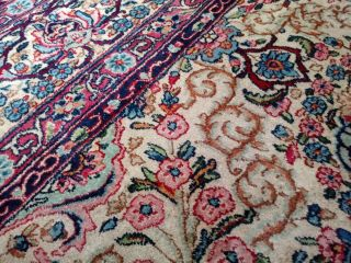 EXTRA LARGE Vintage Handknotted Floral PERSIAN Wool Rug 12x9ft Oriental Keshan 11