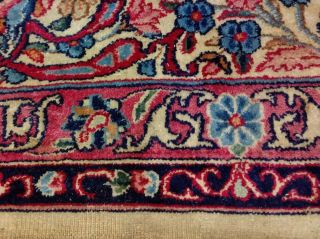 EXTRA LARGE Vintage Handknotted Floral PERSIAN Wool Rug 12x9ft Oriental Keshan 12