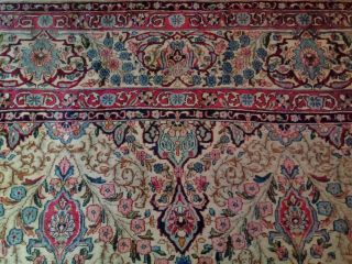 EXTRA LARGE Vintage Handknotted Floral PERSIAN Wool Rug 12x9ft Oriental Keshan 5
