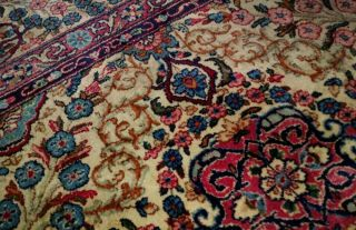 EXTRA LARGE Vintage Handknotted Floral PERSIAN Wool Rug 12x9ft Oriental Keshan 6