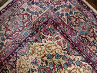 EXTRA LARGE Vintage Handknotted Floral PERSIAN Wool Rug 12x9ft Oriental Keshan 7