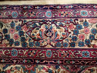 EXTRA LARGE Vintage Handknotted Floral PERSIAN Wool Rug 12x9ft Oriental Keshan 8