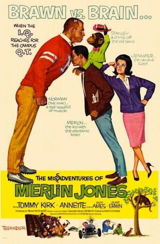 Vintage Movie 16mm The Adventure Of Merlin Jones Feature 1964 Film Comedy