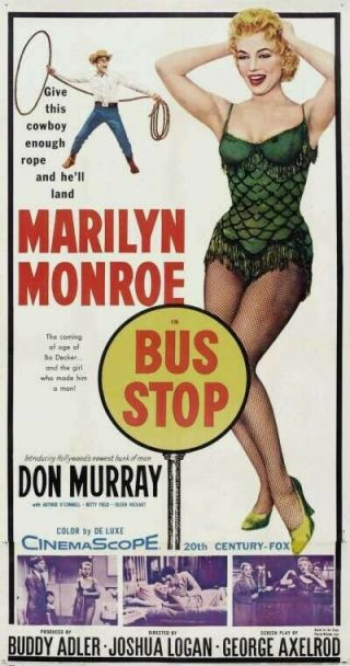 Vintage Movie 16mm Bus Stop Feature 1956 Film Marilyn Monroe Adventure Drama