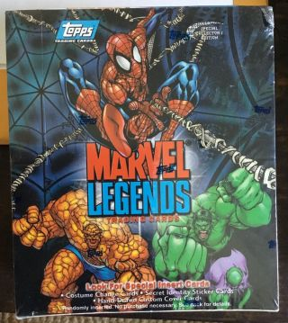 2001 Topps Marvel Legends Trading Cards Factory Wax Box Sketch Card Rare