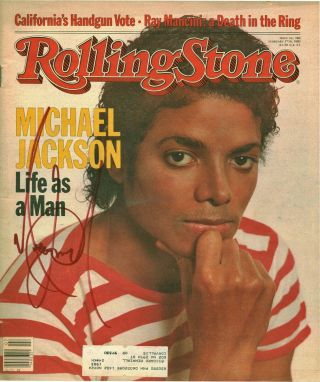 Michael Jackson Rare Signed 1983 Rolling Stone Real/epperson Psa Jsa