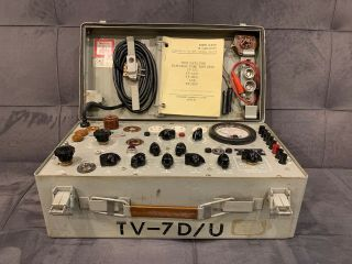Vintage TV - 7D/U Tube Tester In,  Calibrated And Fully Functional 2