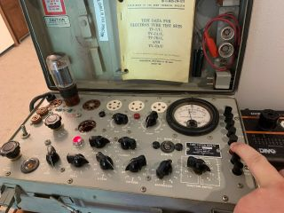 Vintage TV - 7D/U Tube Tester In,  Calibrated And Fully Functional 6