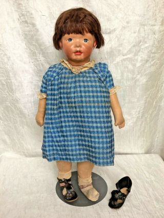 All Antique Kamkin Doll W Swivel Head By Louise Kampes 19 ""