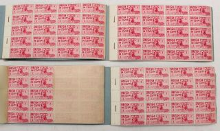 Rare Egypt 1934 British Forces 1 Piastre Carmine 350 Stamps Nh In 4 Books - S77