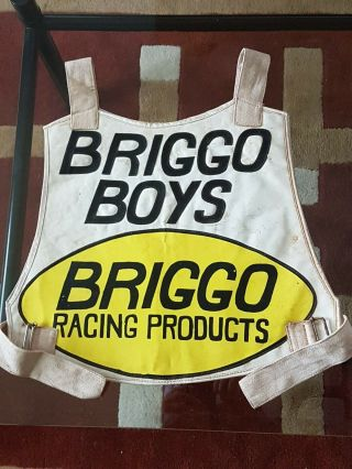 Rare Iconic Speedway Race Jacket Barry Briggs 1970s Signed.