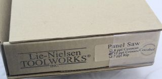LIE - NIELSEN PANEL SAW,  12 PPI CROSSCUT,  NIB COCOBOLO HANDLE,  VERY RARE 5