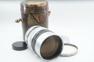 """Extremely Rare """" Exc,  """" Canon 85mm F1.  5 Leica 39mm Ltm Leica Screw Mount Lens"""