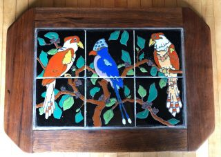 Vintage tiles pottery birds Taylor Arts Crafts Santa Monica Malibu California 2