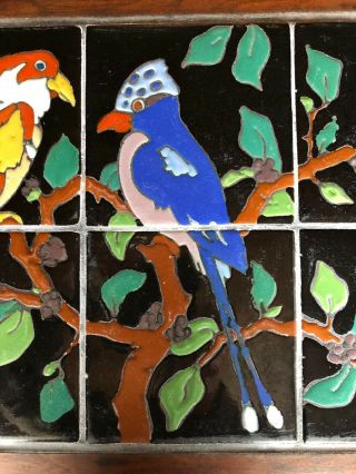 Vintage tiles pottery birds Taylor Arts Crafts Santa Monica Malibu California 5