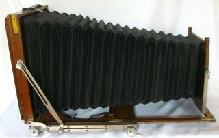 Vageeswari 10x12 Inch Wooden Field Camera With Plate Holder Vintage Ulf (b)
