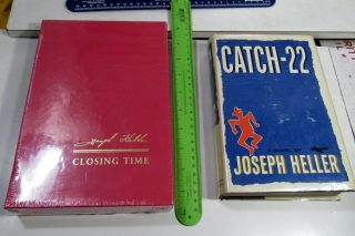Joseph Heller Catch 22 & Sequel/1961/rare Signed 1st Ed/1st Issue/nf Dj