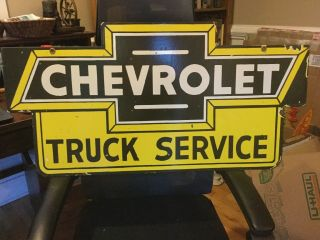 Vintage Chevrolet Double Sided Dealer Service Sign