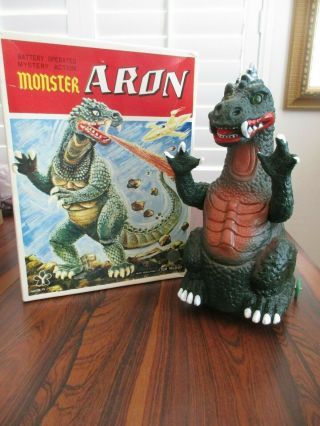 Vintage Monster Aron W/ Box - Space Giants - 1960