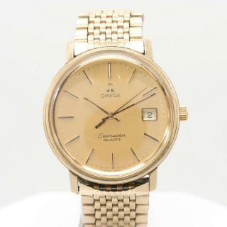 Vintage Omega Seamaster - Gold With Quartz Movement
