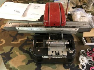 Vintage Graphotype 350 Dog Tag Machine - Complete With Manuals And Supplies