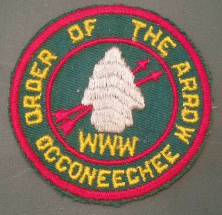 Vintage Boy Scout Occoneechee Www Order Of The Arrow Patch