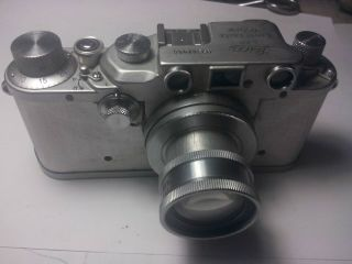 Vintage Leica Iiic Rangefinder Camera With Xenon 50mm Lens.  Needs Some Work