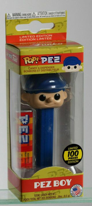 Pez Funko Pop Pez Rare Limited Blue Hair Boy