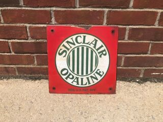 Porcelain Sinclair Opaline Gas Oil Sign Vintage Old Early