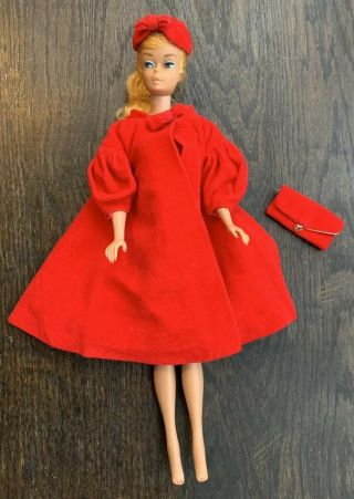 Vintage Swirl Ponytail Barbie With Case,  Stand,  And Accessories
