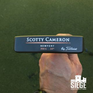 Extremely Rare Refinished Scotty Cameron Classics Newport 33/350 Putter W/hdcvr