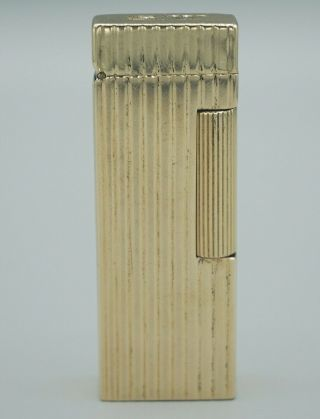 Vtg Dunhill 14k Yellow Gold Ribbed Lighter 271